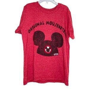 Disney Store Red Original Mouseketeers Tee Medium